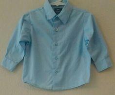 PERRY ELLIS PORTFOLIO Toddler Boy Size 24M Long Sleeve Button Down Shirt One pc #PerryEllisPortfolio #DressyEverydayHoliday