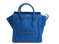 #Celine Mini Luggage Hand bag Leather Royal Blue 165213 (BF069942). Authenticity guaranteed, free shipping worldwide & 14 days return policy. Shop more #preloved brand items at #eLADY: http://global.elady.com