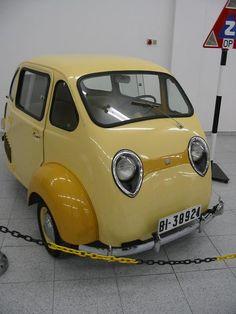 Classic Micro Car.Triver, 1959, Bilbao.Classic Car Art&Design @classic_car_art #ClassicCarArtDesign