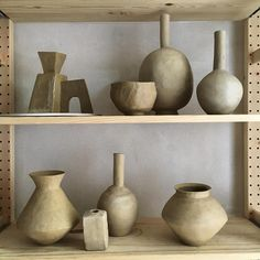 "629 Likes, 14 Comments - Studio MC (@_jessica_coates_) on Instagram: ""#studiomc #ceramics #pottery #greenware #drying #stoneware #bitsandpieces #studio"""