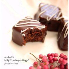 生チョコ風☆ショコラブラウニー Dessert Cake Recipes, Sweets Recipes, Baking Recipes, Desserts, Brownie Packaging, Japanese Cake, Homemade Sweets, Kinds Of Cookies, Truffle Recipe