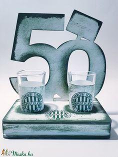 FTC fa tálcás ital kínáló röviditalos poharakkal FTC foci rajongói ajándék férfiaknak, férjeknek 18-100 szülinapra: 50. (Biborvarazs) - Meska.hu Fa, Ice Tray, Silicone Molds