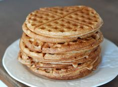 What's for breakfast this weekend? How about some yummy, healthy, easy-to-make, homemade waffles! You do need a waffle iron for this recipe, but I definite
