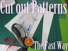 Hints from Hello Kirsti: Use a rotary cutter to cut out the straight parts and gentle curves of print your own patterns, then use scissors on the rest.