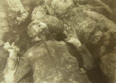 Ukraine, Babi Yar, Bodies found in a mass grave by Soviet researchers, 1944.