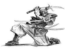Samurai Warrior Tattoo, Warrior Drawing, Guy Drawing, Drawing Skills, Fighting Tattoo, Sun Ken Rock, Arte Ninja, Samurai Artwork, Japanese Warrior