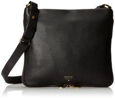 Fossil Preston Crossbody, Black, One Size: Handbags: Amazon.com