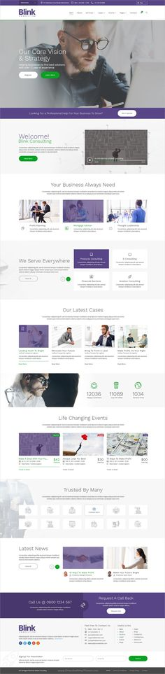 Blink is a wonderful responsive #PSD template for for #Consulting, #accounting and other business firms websites for 2 homepage layouts and 32 organized PSD pages download now➩  https://themeforest.net/item/blink-consulting-and-business-template/19301006?ref=Datasata