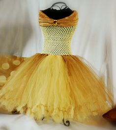 Belle from Beauty and the Beast Tutu Dress by CurlicueTutus, $45.00