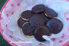 Dulces felicidades: #Galletas de mantequilla con cobertura de #chocolate...