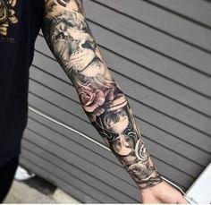 Pin by diytattooproject on DIY Tattoo Project Great Tattoos, Body Art Tattoos, Tattoos For Guys, Tattoos For Women Half Sleeve, Full Sleeve Tattoos, Vintage Tattoo Sleeve, Diy Tattoo, Small Tattoo Cost, Tatouage Xo