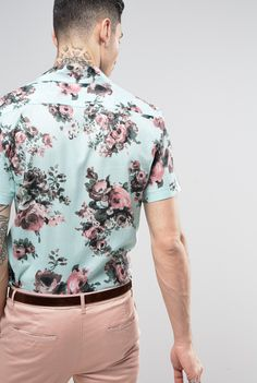 Reclaimed Vintage Inspired Party Shirt In Reg Fit from ASOS (men, style, fashion, clothing, shopping, recommendations, stylish, menswear, male, streetstyle, inspo, outfit, fall, winter, spring, summer, personal)