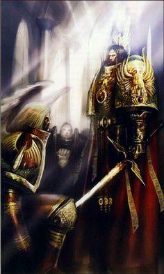 Sanguinius and the Emperor