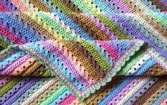 crocheted cupcake stripe blanket   the crochet space