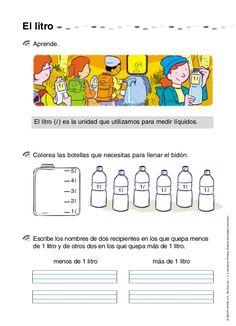 Actividades de matemáticas 2º educación primaria Fractions Worksheets, Homeschool, 1, Teaching, Education, Measurement Activities, Math Lessons, Reading, Home Economics
