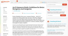 An E-Commerce Study: Guidelines For Better Navigation And Categories | Smashing UX Design