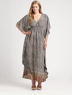Tolani, Salon Z Silk Caftan Dress