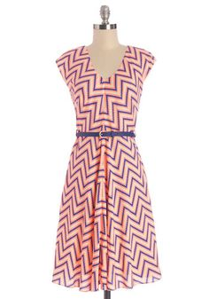 Know Every Angle Dress in Pixels. Were inclined to believe that, no matter how you style this zigzag dress by Louche, youll feel fantastic! NaN