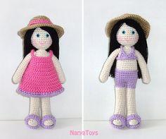 Amigurumi Hand Crocheted Girl Doll Zeynep the Summer by naryatoys, $38.00