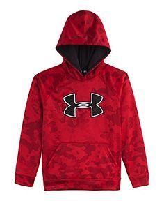 edb6638c89ee Under Armour Big Boys  UA Storm Armour Fleece Big Logo Blocked Hoodie  (Youth)