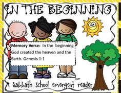 This is an emergent christian text about the creation story. It goes through Genesis 1 and also includes a mini puzzle for putting what happened on each day of the week in order. Great for christian schools, home school students and all other christian students Pre-k-1.
