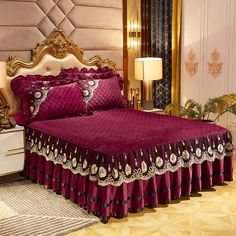 Kanjivaram Sarees Silk, Cama Box, Jute Crafts, Luxurious Bedrooms, Aliexpress, Bed Covers, Bed Spreads, Linen Bedding, Bed Sheets