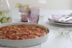 Nina's Kitchen: Quiche de cebolla caramelizada, queso Gruyère y tomate