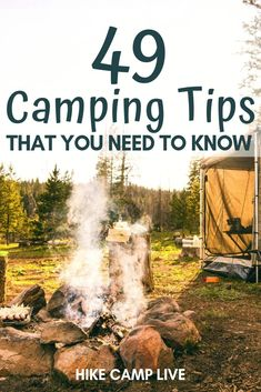 The Ultimate List of Camping Tips that you need to know before you begin your adventure. Use these camping tips to ensure your camping trip is a success. Camping With Kids, Family Camping, Camping Gear, Camping Hacks, Camping Tools, Camping Guide, Beginner Camping, Camping Style, Backpacking Gear