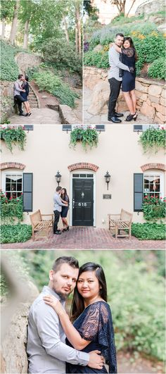 Sunrise engagement in downtown Greenville