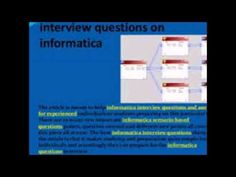 The article is meant to help informatica interview questions and answers for experienced individuals or students preparing on this particular topic. There are so many new important informatica scenario based questions points, question covered and different new points all covered in this piece all at ease.