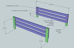 side rails (adjust for toddler bed) :: Ana White