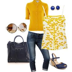 perfect for spring...thinking about the remix in a different color scheme #jeans #wedges