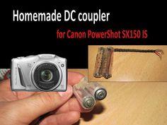 Homemade DC coupler (battery shell) for Canon PowerShot SX150