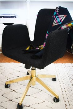 IKEA Hacks and DIY Hack Ideas for Furniture Projects  and Home Decor from IKEA -  EASY IKEA Office Chair Hack - Creative IKEA Hack Tutorials for DIY Platform Bed, Desk, Vanity, Dresser, Coffee Table, Storage and Kitchen Decor http://diyjoy.com/diy-ikea-hacks