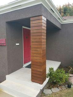 House Pillars, Porch Pillars, Brick Columns, Columns Decor, Front House Landscaping, Pillar Design, Modern Porch, Home Exterior Makeover, Column Design