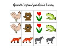 Memory is a crucial aspect of any child's life. Some kids have a tougher time with memory than others. One child may remember to brush their teeth every night without being reminded, while another child may need nightly reminders. The good news for parents is that there are some games that will help with memory improvement. Here are some games to improve your child's memory.