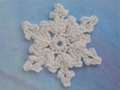 The classic snowflake motif is a free and easy crocheted embellishment pattern. Use the classic snowflake motif to adorn all your winter projects.