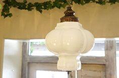 アンティーク ミルクガラス ペンダントランプ - アンティーク家具の通販・リペア修理-神戸   HOMEWARD ホームワード