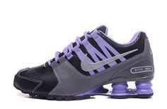 Nike Shox NZ Shox Avenue Black Gray Purple Women's Girl Sport Athletic Running Shoes