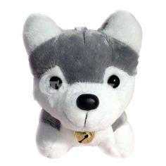 Soft Stuffed Toys for Dogs: Lovely Husky Dog Plush Toy for Kids 18cm