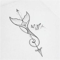 Mermaid tail tattoo - Famous Last Words Wolf Tattoos, Arrow Tattoos, Body Art Tattoos, Tattoo Drawings, Sleeve Tattoos, Octopus Tattoos, Ankle Tattoos, Tattoo Girls, Tattoo For Baby Girl