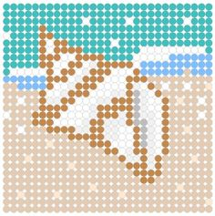 Sea Shell Perler Bead Pattern