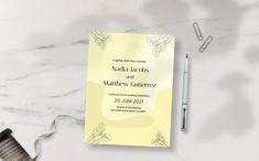 Nadia Jacobs Wedding Set - Invitation Corporate Identity, Print Templates, Wedding Sets, Celebrity Weddings, Invitations, Card Templates Printable, Save The Date Invitations, Branding, Shower Invitation