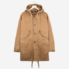 Engineered Garments Highland Parka Brown 12oz Bull Denim