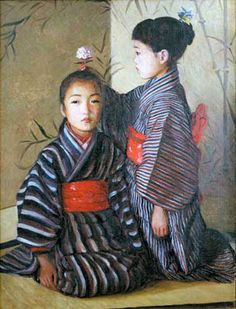 Lilla Cabot Perry (American: 1848 – 1933) - Japanese Children
