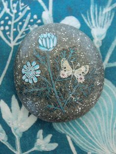 Pretty painted stone