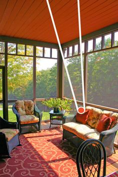 screened porch decor | Post and Beam Home Decor Colors | Pantone Colors Spring 2012