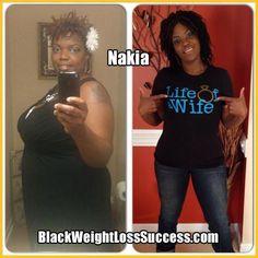 Nakia lost 54 pounds
