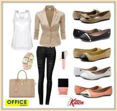 Priznajte sa, kto ešte nemá baleríny #Kitten z Office Shoes?   Dnes Vám ponúkame inšpiráciu, ako ich nosiť k elegantnému outfitu.  Vaše #Kitteny teraz za geniálne ceny so zľavou až -80%! #modnaporadna #OfficeShoesSK