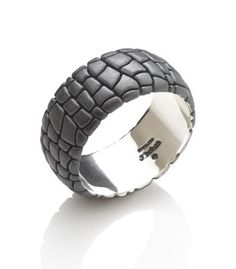 3176e667fe3 Diana Widman Fine Jewelry at Gordon Aatlo Designs · alligator pattern band  Sterling silver (oxidized finish) 9mm wide alligator band. Also available